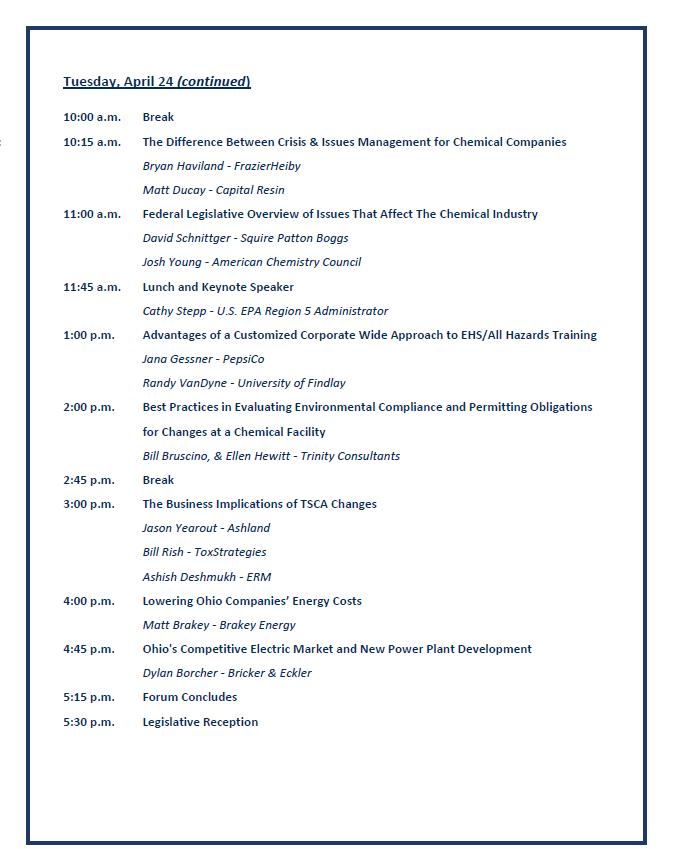 2018 Agenda page 2